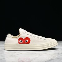CDG PLAY X CONVERSE CHUCK TAYLOR ALL STAR '70 OXWHITE