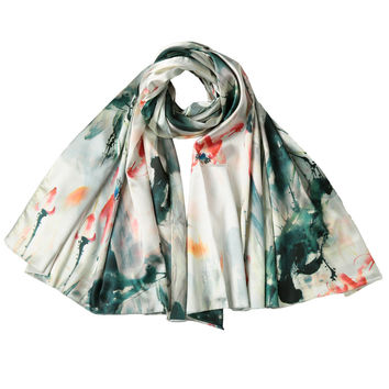Vintage Women Silk Scarf Unique Printed Shawls And Scarves All-match Pashmina Long Design Air Conditioning Echarpe  SM6