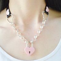 Lockable Chain Heart Collar