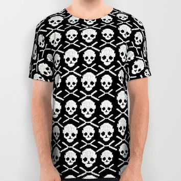 Skull XO All Over Print Shirt by MaksciaMind