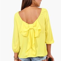 Waldorf Bow Blouse - Lime