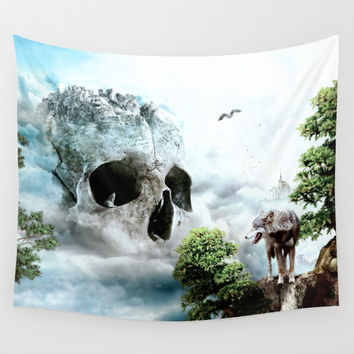 Cloudy Path Wall Tapestry by RIZA PEKER