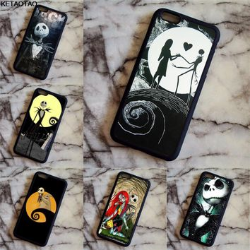 KETAOTAO The Nightmare Before Christmas Love Phone Cases for iPhone 4S 5C 5S 6S 7 8 Plus XR XS Max Case Soft TPU Rubber Silicone