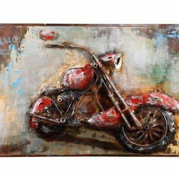 MOTORCYCLE MANIA WALL DCOR