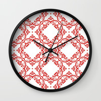 Floral pattern Wall Clock by g-man