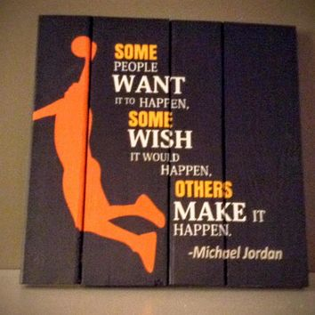 Wood sign - Michael Jordan Basketball sign/sports sign/Basketball gift/Basketball wall