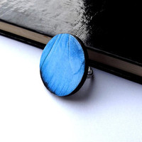 Blue butterfly wing ring - Butterfly Wing Jewelry - Butterfly wing ring - Mothers Day Ring - butterfly wing