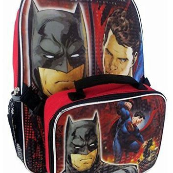 "16"" DC Comics Batman v Superman: Dawn Of Justice Kids Backpack & Lunch Bag Set"