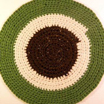Thick Pet Bed, Rag Rug Round, Cat Bed, Cat Mat, Crochet Pet Bed Blanket Mat, Travel Pet Bed