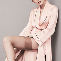 Silk Satin Robe Dressing Gown for Women Pajamas Sleepwear Hot Sexy Lingerie Babydoll Nightgowns Kimono Bathrobe with Belt H60575
