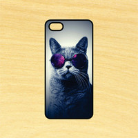 Cat in Glasses Phone Case iPhone 4 / 4s / 5 / 5s / 5c /6 / 6s /6+ Apple Samsung Galaxy S3 / S4 / S5 / S6