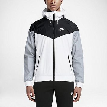 KUYOU Nike Windrunner Jacket (White/Black/Wolf Grey)