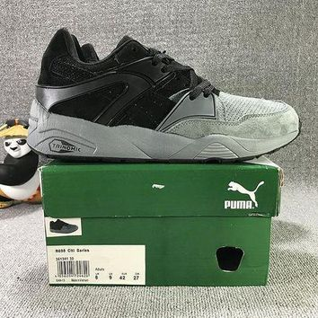 DCCKIJ2 Puma Trinomic Blaze Suede Mid-High Casual Shoes Sneaker Grey Black
