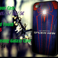 Apple The Amazing Spider-Man iPhone 4 4S 5 5S 5C , iPod Touch 4 5 and Samsung Galaxy S3 S4 Case
