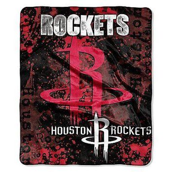 Houston Rockets 50x60 NBA Drop-Down Royal Plush Raschel Throw