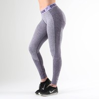 Gymshark Flex Leggings - Rich Purple Marl/Soft Lilac