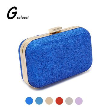 Brand black blue gold purple red sliver ladies mini cluth shoulder minaudiere evening bags for lady women chain party fashion