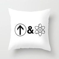 Up&Atom. Throw Pillow by Moop