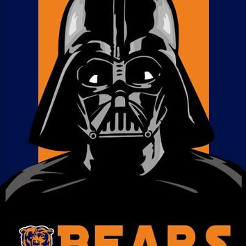 3x5ft skull Chicago Bears empire flag with 2 metal grommets