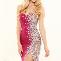 Jeweled Slit Gown by Terani Couture Prom