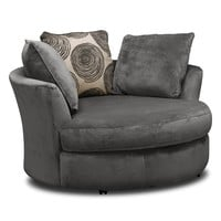 Cordelle Swivel Chair - Gray