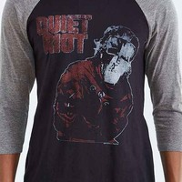 Quiet Riot Psycho Raglan Tee- Washed Black