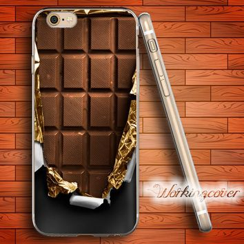 Chocolate Bar Soft Clear Case for iPhone 7 6 6S Plus 5S SE 5 5C 4S 4 Plus Case Ultra Thin Slim Silicone Cover.