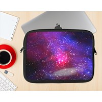 The Vivid Pink Galaxy Lights Ink-Fuzed NeoPrene MacBook Laptop Sleeve
