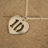silver  one direction jewelry uk boy band necklace
