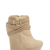 Wrap Superstar Strappy Wedge Booties GoJane.com