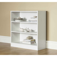 Walmart: Mainstays Wide 3-Shelf Bookcase