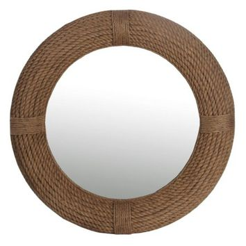 Privilege International Round Rope Wall Mirror - 37.5 diam. in. - Walmart.com