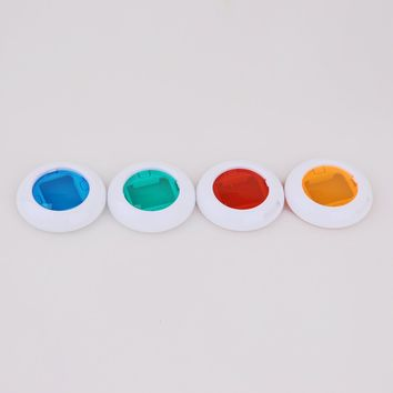 Generic Colorful Filter Blue Green Orange Red 4 Colors Magic Lens For Fujifilm Instax Mini 8 7s Cameras