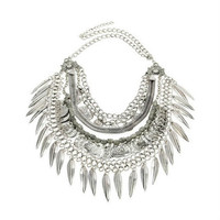 Boho Layered Leaf and Coin Statement Necklace Save 68%!