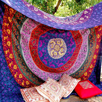 Twin Hippie Tapestry Hippy Mandala Bohemian TapestriesIndian Dorm Decor Psychedelic Tapestry Wall Hanging Ethnic Decorative