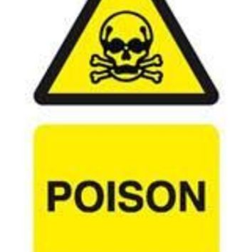 Tie tag, Poison - Pack of 10