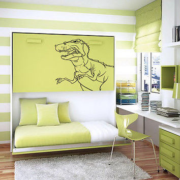 ANGRY DINOSAUR BABY ROOM NURSERY  WALL VINYL DECAL STICKER ART MURAL B420