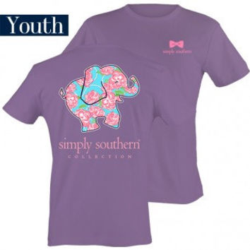 Monogrammed Simply Southern Youth Elephant Shirt