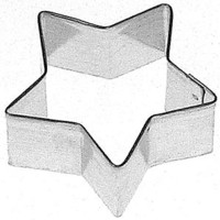 """mini 1.5"""" Star Cookie Cutter for Military, Scouts, Patriotic, Elections, super star birthday or baby showers, Christmas cupcake topper"""