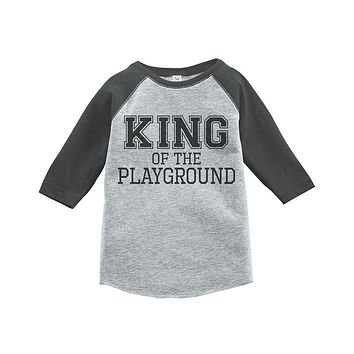 Custom Party Shop Kids King of the Playground School Raglan Tee