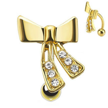 Bow With Cascading Paved Gems