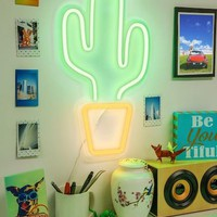 "Cactus 18"" LED Wall Sign"