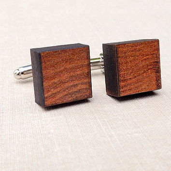 Wood Cufflinks - Wood Cuff Links - Mens Cufflinks - Wedding Cufflinks - Wooden Cufflinks - Reclaimed Wood Oak Cufflinks - Gift For Him Men