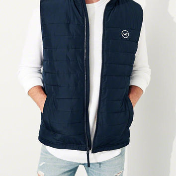 Guys Sherpa-Lined Puffer Vest | Guys 40% Off Winter Favorites | HollisterCo.com