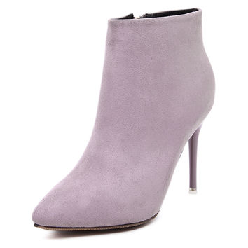 Be Mine Forever Suede Ankle Boot Stilettos