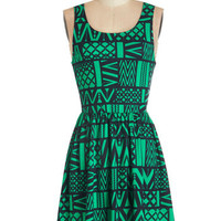 ModCloth Sleeveless A-line Land of Applause Dress