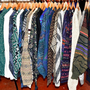 Vintage Inspired! Mystery Pattern Sweaters,Tribal Sweaters-Patterns All Sizes All Styles!