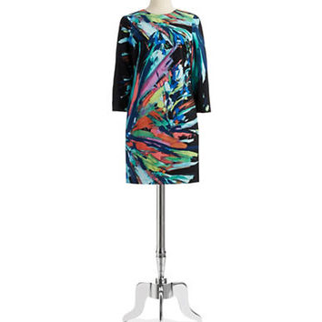 Maia Splatter Paint Shift Dress