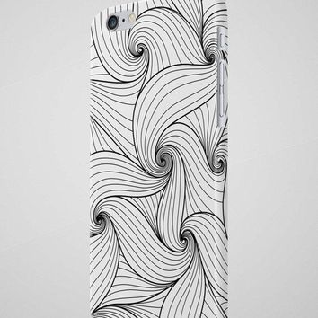 Black & White Waves Pattern iPhone 8 Case iPhone SE Case iPhone 7 Case Samsung Galaxy S8 Case HTC Case Huawei P10 Case iPhone 8 Plus Case