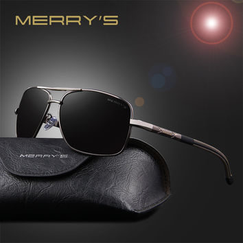MERRY'S New Polarized Sunglasses Men Fashion Driving Sun Glasses For Men Eyewear Shades Oculos De Sol S'8714